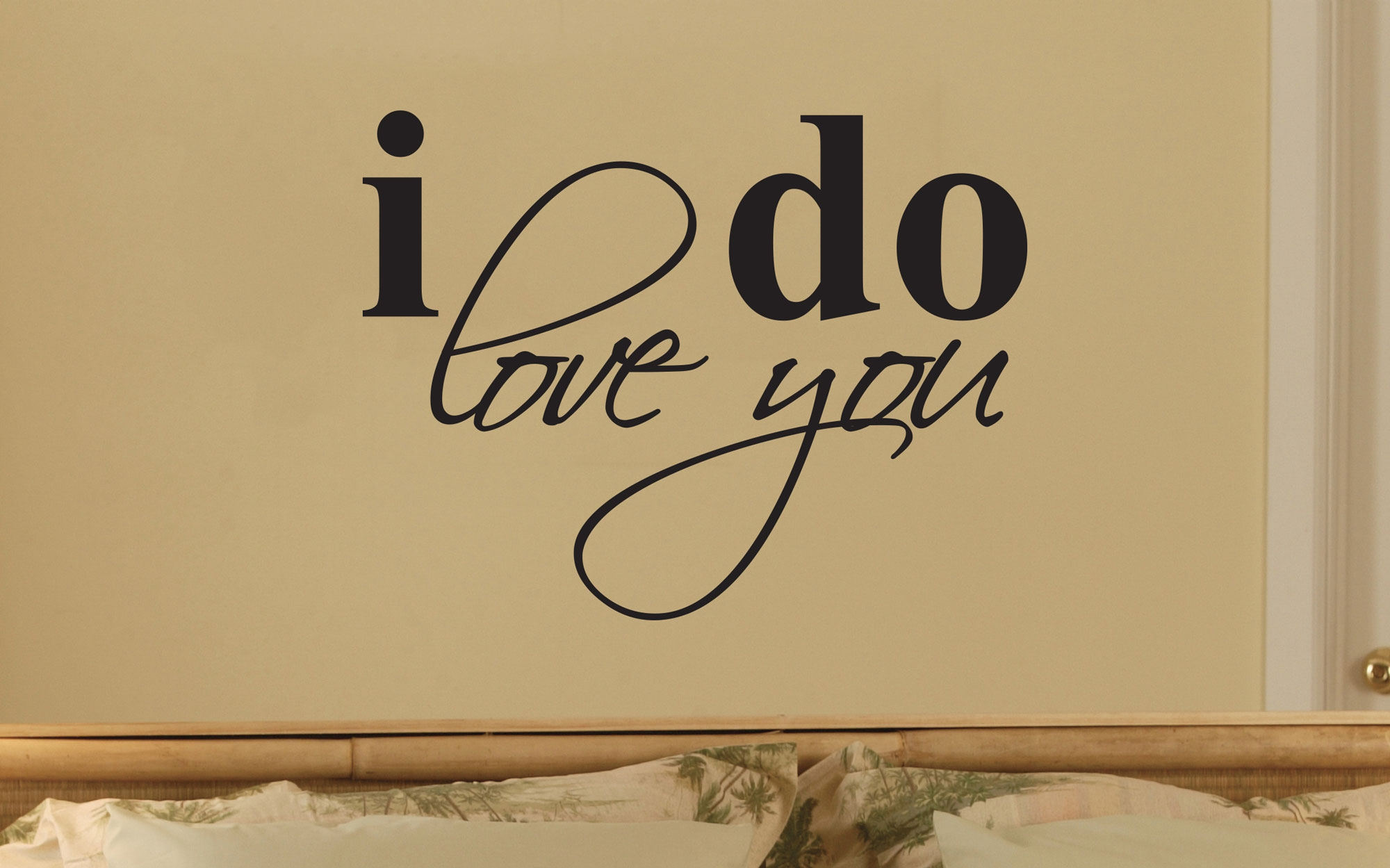 I DO LOVE YOU ART WALL QUOTE SIGN VINYL DECAL STICKER - OZDECO T/S ...