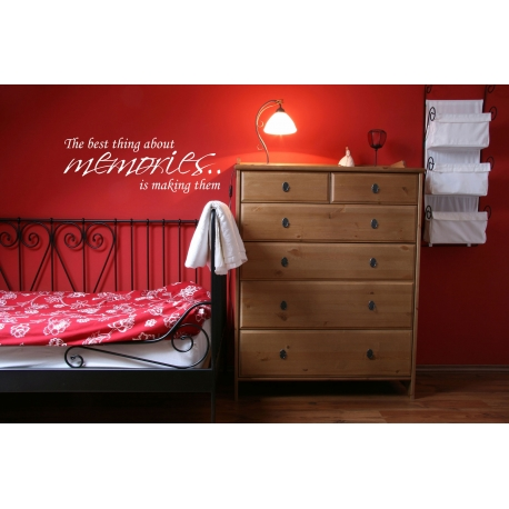 THE BEST THING ABOUT MEMORIES IS MAKING THEM WALL VINYL DECAL