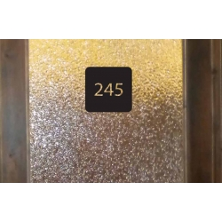 CUSTOM DOOR NUMBER NAME SIGN VINYL DECAL STICKER WALL DOOR OFFICE SHOP