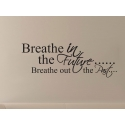 BREATHE IN THE FUTURE ART WALL QUOTE SIGN VINYL DECAL STICKER