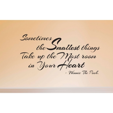 SOMETIMES THE SMALLEST THINGS WALL DECAL VINYL LETTERING STICKER