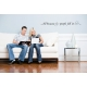 ALL BECAUSE TWO PEOPLE FELL IN LOVE WALL ART DECAL VINYL LETTERING STICKER REMOVABLE