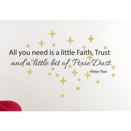 ALL YOU NEED IS A FAITH TRUST DUST NURSERYWALL DECAL VINYL STICKER