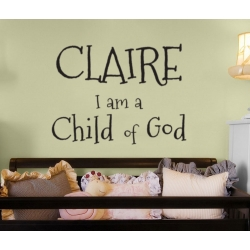 CHILD OF GOD CUSTOM PERSONALIZED VINYL DECAL STICKER WEDDING GIFT