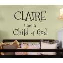 CHILD OF GOD CUSTOM PERSONALIZED VINYL DECAL STICKER WEDDING GIFT