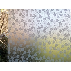 1M/M WHITE LEAVES REMOVABLE FROSTED WINDOW FILM PRIVACY