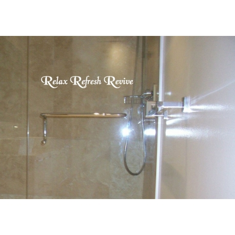 RELAX REFRESH REVIVE RENEW QUOTE WALL DECAL VINYL STICKER BATHROOM