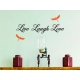 LIVE LAUGH LOVE QUOTE WALL TATTOO VINYL STICKER LIVING ROOM