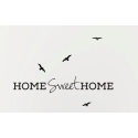 HOME SWEET HOME BIRDS QUOTE WALL TATTOO VINYL STICKER LIVING ROOM