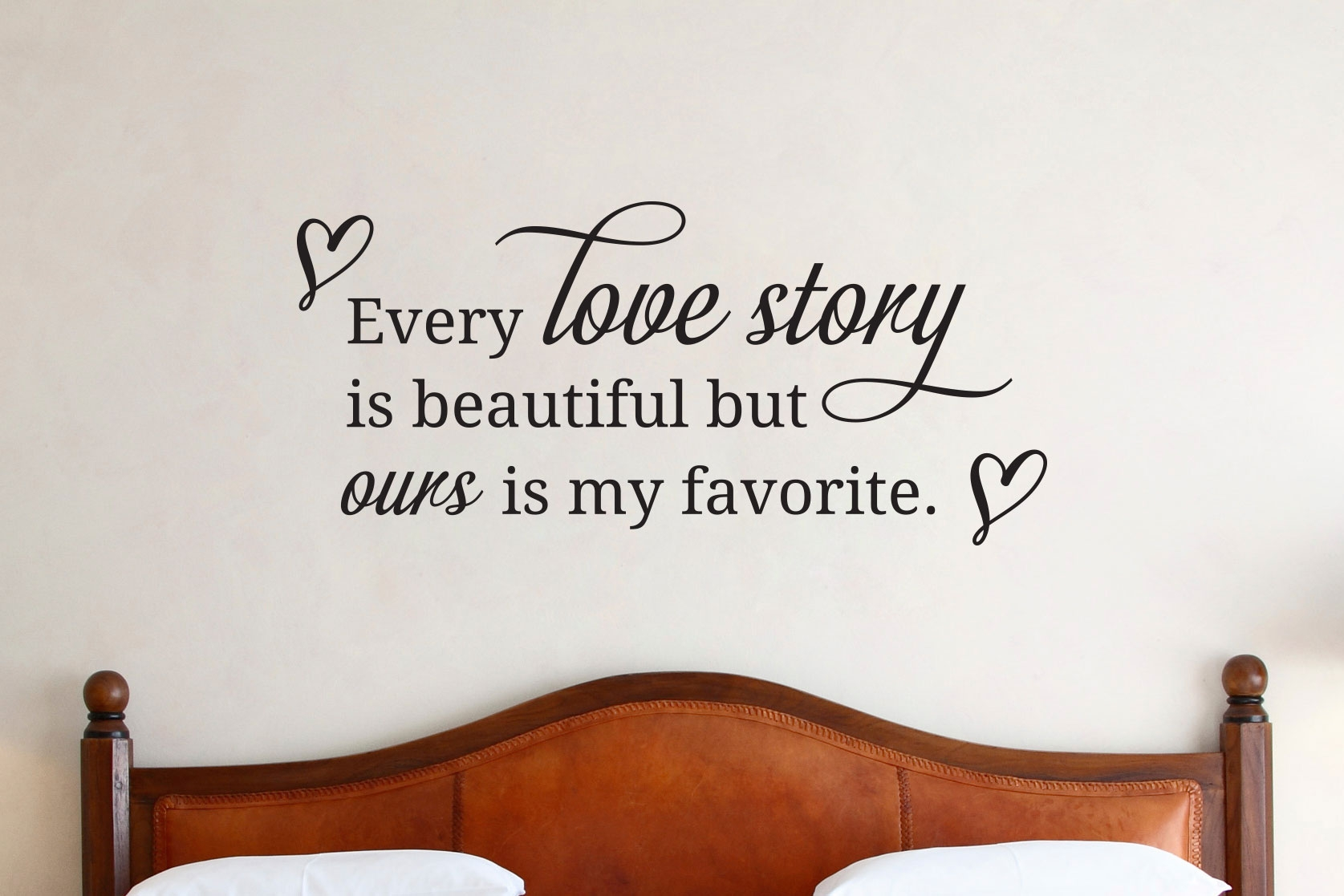 Every Love Story Is Beautiful WALL Lettering Quote Vinyl Decal Sticker  Removable   OZDECO T/S Polonaiz