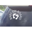 BABY ON BOARD SIGN CAR DECAL VINYL STICKER