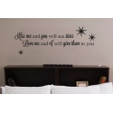 KISS ME AND YOU WILL SEE STARS LOVE VINYL DECAL STICKER