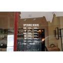 CUSTOMISED SIGN SHOP Opening Trading Business HOURS WINDOW WALL STICKER DECAL