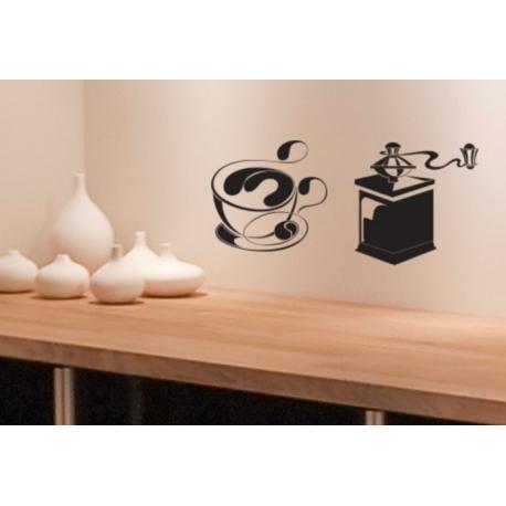 Coffee Tee Cup Mug Vinyl Decal sticker Wall Cafe Window Takeaway Kitchen Sign