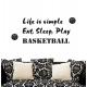 Life is simple Eat Sleep Play Tennis Golf Wall Lettering Decal Vinyl Sticker