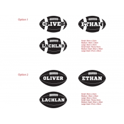 Personalized Custom Football Rugby Name Wall Door Decal Kids Baby Sports Decor