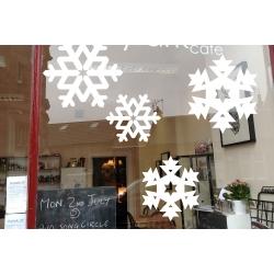 1 Snowflake Snow XMAS decor Removable Art Vinyl wall window glass shop sticker decal