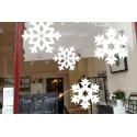 1 Snowflake Snow XMAS decor Removable Art Vinyl wall window glass shop sticker decal