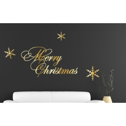 Merry Christmas XMAS Sticker Removable Wall Window Shop Viny Decal