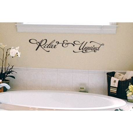 Relax & Unwind XMAS Year end Party Lettering Removable wall Vinyl sticker decal