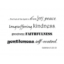 Galatians 5:22-23 The fruit of the Spirit is love BIBLE QUOTE ART WALL VINYL DECAL