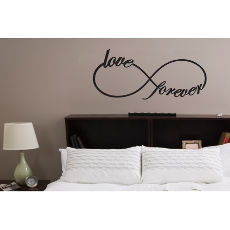 Infinity Love forever Wall Quote Sign Vinyl Decal Lettering Sticker Removable