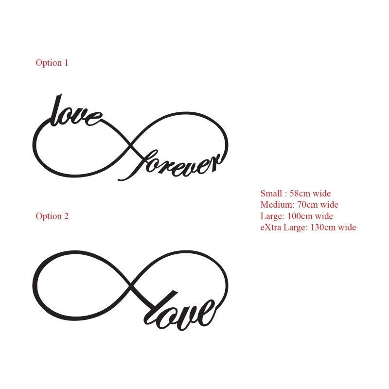 Infinite Eternal Love Love Forever Infinity Symbol Wall Decal