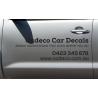 Custom Car Side Advert Ad Personalised Word Vinyl Decal Lettering Bumper Sticker
