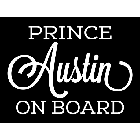 PRINCESS PRINCE ON BOARD SIGN CAR DECAL VINYL STICKER