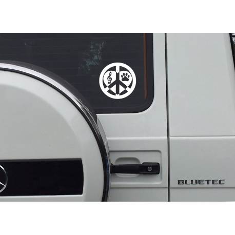 Custom Personalized I Love Peace Dog Cross Football Aus Car Decal Vinyl Sticker