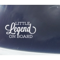 Little Legend Dude Lady Prince Princess Person on Board Safety Car Sign Decal