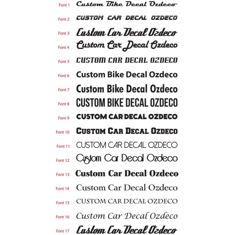 4x custom bike motorcycle helmet name decal set personalised bicycle sticker