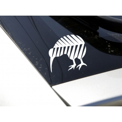 Kiwi Bird in Silver Fern New Zealand NZ Symbol Car Boat Decal Vinyl Sticker