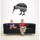Kiwi Bird in Silver Fern New Zealand NZ Symbol Car Boat Decal Vinyl Sticker