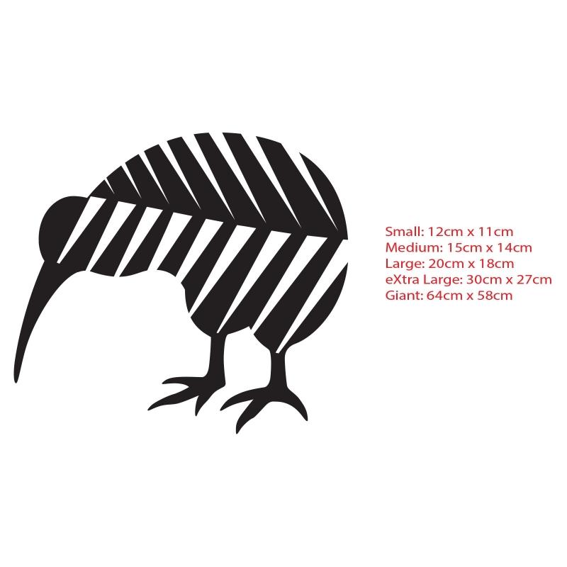 Kiwi Bird In Silver Fern New Zealand NZ Symbol Car Boat Decal - Vinyl decal car nz