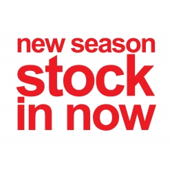 NEW SEASON STOCK IN NOW SHOP STORE WALL WINDOW SIGN VINYL STICKER DECAL