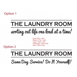 The Laundry Room Sorting out life Same Day Service Do It Yourself! Funny Vinyl Sign Decal Sticker
