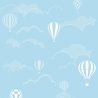 Blue Sky Hot Air balloon Nursery Frosted Frosting Window Film Privacy Glass 1m/m