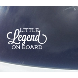 Little Legend Dude Lady Prince Princess Man on Board Safety Car Sign Decal
