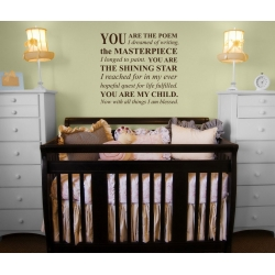 You are the Poem I dreamed of Writing Nursery Quote Wall Art Vinyl Decal Sticker