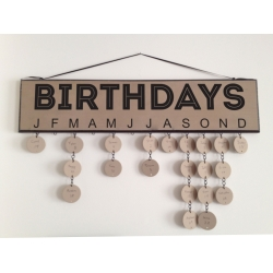 Family Birthdays Anniversary Vinyl Decal Sign with Month for board Gift