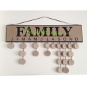 Celebrate Our Family Birthdays Celebration Anniversary w/ Month Vinyl Decal Craft Sign Gift