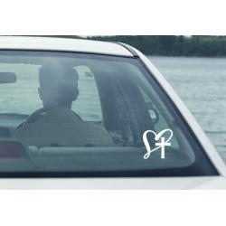 I Love Jesus Heart Cross Car Boat Bike Laptop Outdoor Decal Vinyl Sticker