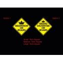 Grandson Granddaughter on board Baby Kids car sign safety Sticker Vinyl Decal