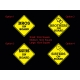 Brothers Sisters on Board Baby Kids Safety Sign Car Decal Vinyl Sticker