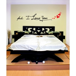 p.s. I Love You Floating Hearts Bedroom Wall Quote Vinyl Decal Sticker Removable