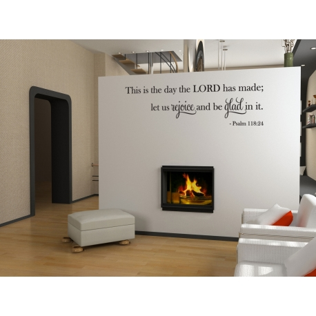 This is the day the LORD has made Lets Rejoice Bible Quote Wall Decal Sticker