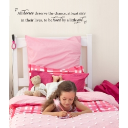 All horses deserve the chance Loved by Little Girl Horse Wall Vinyl Decal Sticker
