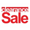 CLEARANCE SALE RETAIL SHOP WALL WINDOW SIGN VINYL STICKER DECAL