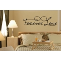 Forever Young Love Eternity Symbol Inspirational Quote Wall Bedroom Vinyl Decal Sticker